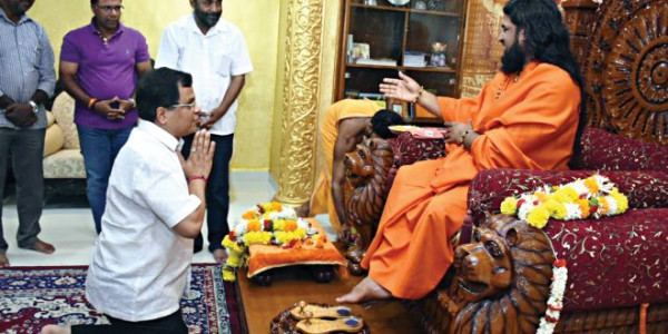 4-year of Modi govt: state BJP seeks Brahmeshanand Swamiji's blessings