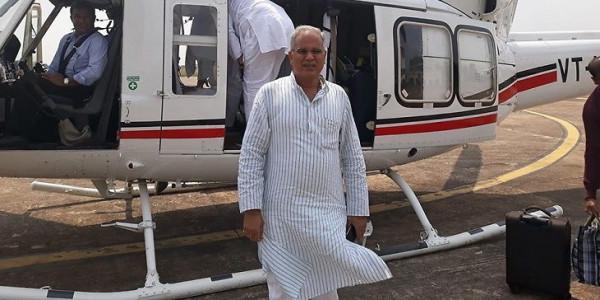 महाराष्ट्र में नहीं लैंड कर सका छत्तीसगढ़ के सीएम का हेलीकॉप्टर
