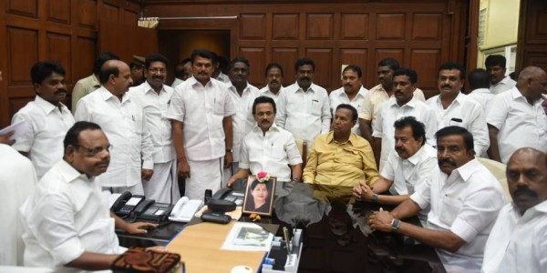 13 DMK members sworn in as MLAs