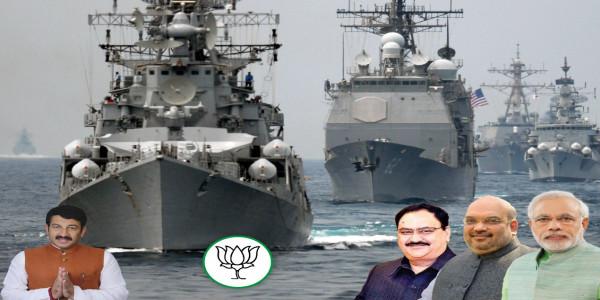 Manoj Tiwari tweets US Navy photo to praise Indian Navy, got trolled