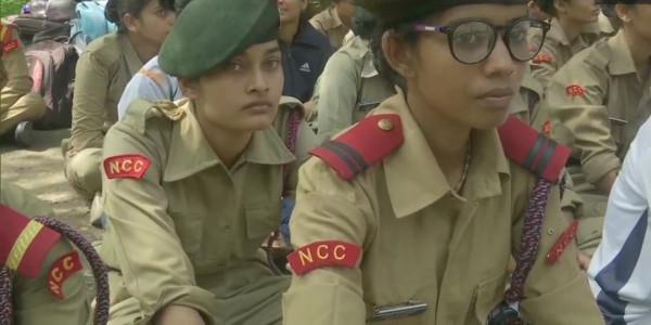 गृह मंत्री के ऑफिस के बाहर NCC कैडेट्स का प्रदर्शन, सरकार से 15% आरक्षण की मांग