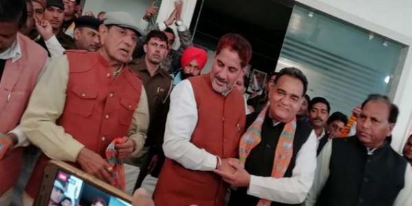 हांसी से पूर्व विधायक विनोद भ्याणा भाजपा में शामिल, कांग्रेस में टिकट को लेकर था संशय