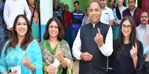 हिमाचल में चार बजे तक 62 फीसद मतदान