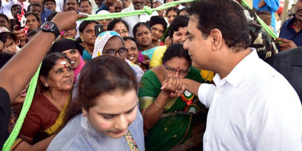 It seemed to be an inaugural day for K T Rama Rao, launches 100 crore project
