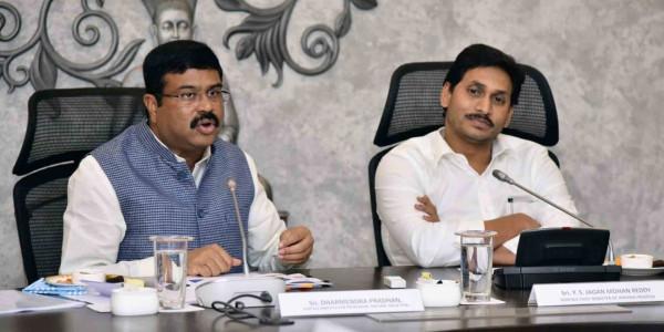 YS Jagan meets Union Minister Dharmendra Pradhan
