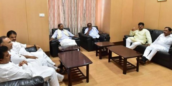 In Bengaluru, Congress leaders closeted with Kumaraswamy to ensure stability of government