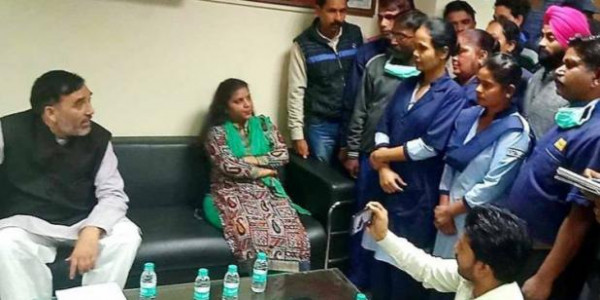 gopal-rai-surprise-inspection-in-sanjay-gandhi-hospital