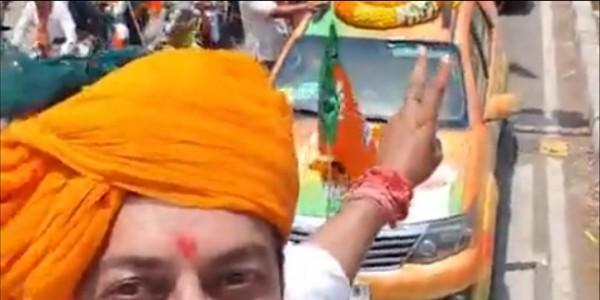जयपुर में भाजपा और कांग्रेस का रोड शो, प्रचार के आखिरी दिन चुनाव के रंग में रंगा पूरा शहर