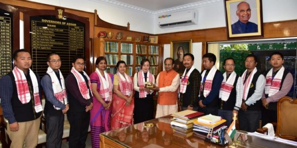 Governor Mukhi interacts with officers from Mizoram Civil Service