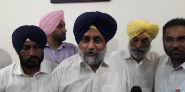 हरियाणा में BJP पर बरसे सुखबीर, कहा- नया मोटर व्हीकल एक्ट किसान हित में नहीं