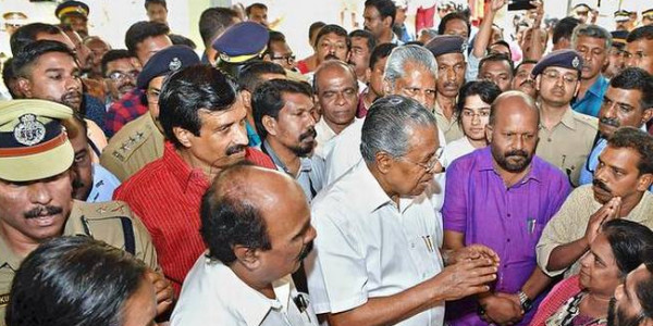 State govt with the suffering people: Pinarayi