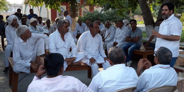 जनक्रांति यात्रा में रघबीर संधू ने बीजेपी सरकार पर बोला हमला, कहा - होगा सूपड़ा साफ