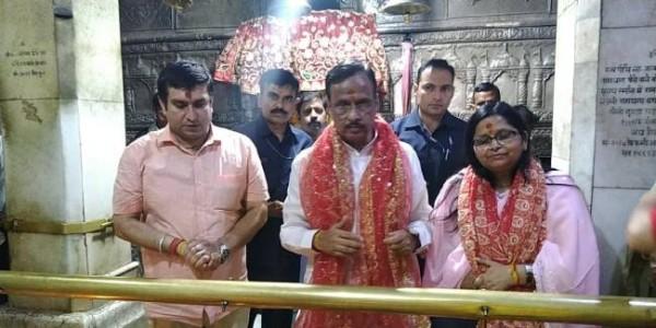 यूपी के उप मुख्यमंत्री ने ज्वालामुखी मंदिर में की पूजा