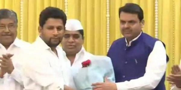 महाराष्ट्र में कांग्रेस को झटका, नेता प्रतिपक्ष का बेटा BJP में शामिल