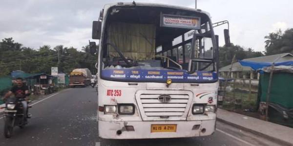Hartal turns violent, KSRTC buses wrecked