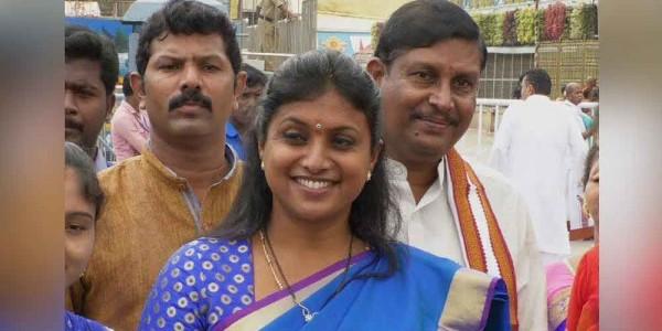 YSRCP leader Roja visits Tirumala temple