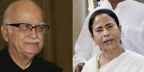ममता बनर्जी ने बीजेपी के वरिष्ठ नेता लाल कृष्ण आडवाणी से की मुलाकात, पैर छूकर लिया आशीर्वाद