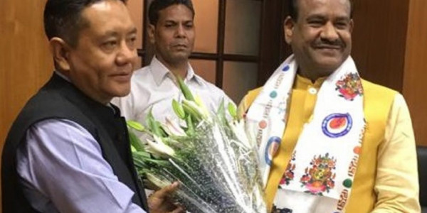 Arunachal Assembly Speaker calls on Lok Sabha Speaker