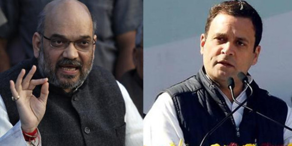Rahul Gandhi Amit Shah to address rallies in the state today