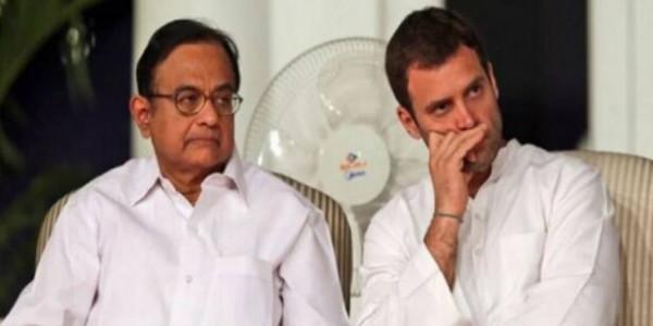 राहुल ने किया चिदंबरम का बचाव, लिखा- सत्ता का गलत इस्तेमाल कर रही मोदी सरकार