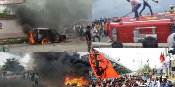 मराठा आंदोलन : हिंसा और आगजनी के बाद वापस लिया मुंबई बंद