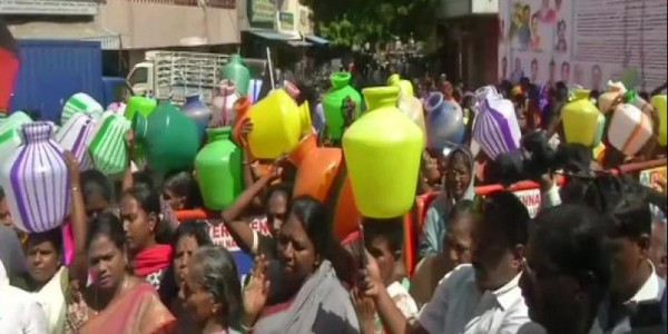 DMK gives notice in Lok Sabha on water crisis issue in TN; Stalin to join protest