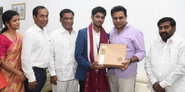 KTR promises all help to State's first chess GM