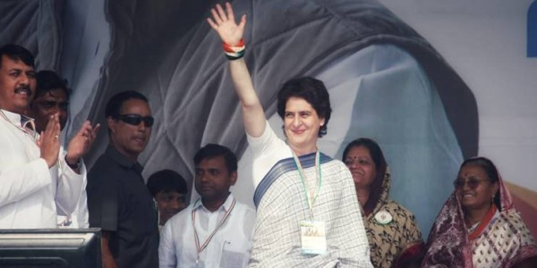 "Priyanka Gandhi attacks NDA govt; says it ""betrayed"" people who voted it to power"