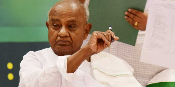Democracy under threat, save it; Deve Gowda appeals to voters