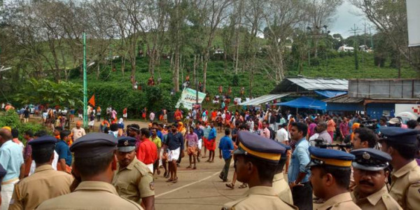 Journalists attacked, media vans vandalised: How Nilakkal, the Sabarimala base camp, descended into chaos