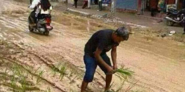 viral test street picture going viral rahul gandhi constituency amethi social media