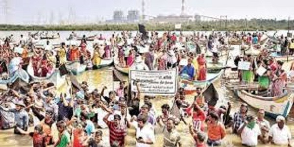 Farmers, Fishermen Protest Against Hydrocarbon Project in Delta Region of Tamil Nadu