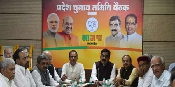एग्जिट पोल में बंपर सीटें मिलने के रूझान पर भाजपा नेताओं में श्रेय लेने की मची होड़