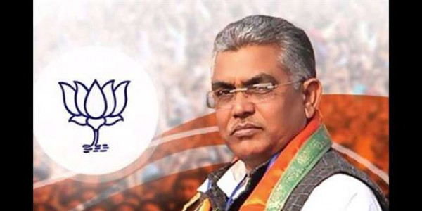 kolkata-state-bjp-president-dilip-ghosh-speaking-again-rong-in-keshidari