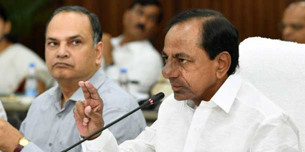 KCR holds marathon meet with Collectors in Hyderabad