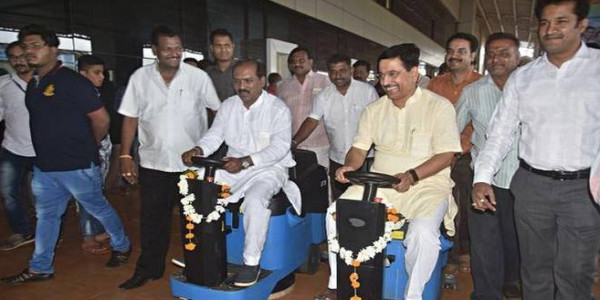 Mechanised cleaning at Hubballi Railway Station