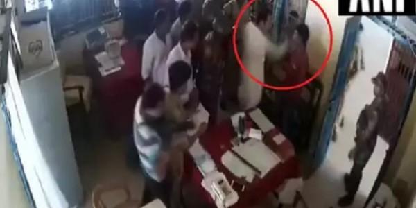 tripura-congress-president-pradyot-kishore-deb-burman-slaps-a-man-inside-police-station