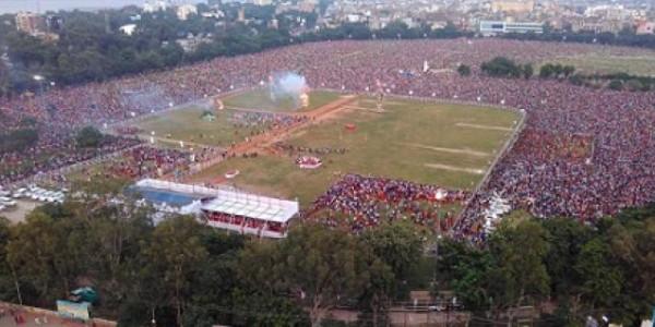 पटना के गांधी मैदान में सीएम नितीश की मौजूदगी में हुआ रावण दहन