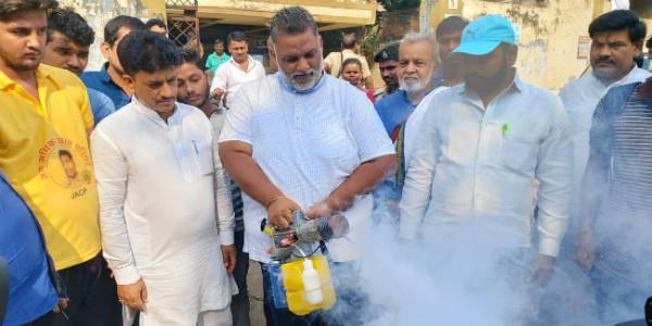 राजधानी से मच्छर भगायेंगे पप्पू यादव, पटना में निजी स्तर पर शुरू की फॉगिंग सेवा