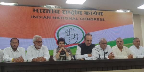 अशोक अरोड़ा समेत इनेलो के चार नेता और निर्दलीय जेपी कांग्रेस में हुए शामिल