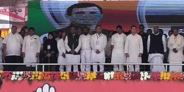कर्नाटक में राहुल गांधी ने रैली से पहले मनोहर पर्रिकर के लिए रखा मौन
