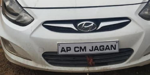 Hyderabad man puts 'AP CM Jagan' on his car's number plate, booked