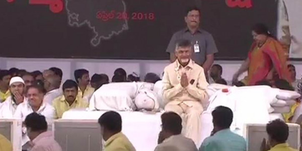 No birthday cake for TDP chief as he strikes against Centre's 'injustice' to Andhra