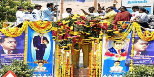 Tributes paid to Ambedkar on his 128th birth anniversary