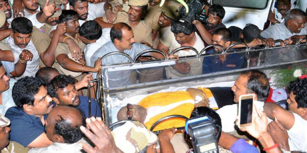 Karunanidhi funeral: Two killed in stampede outside Rajaji Hall