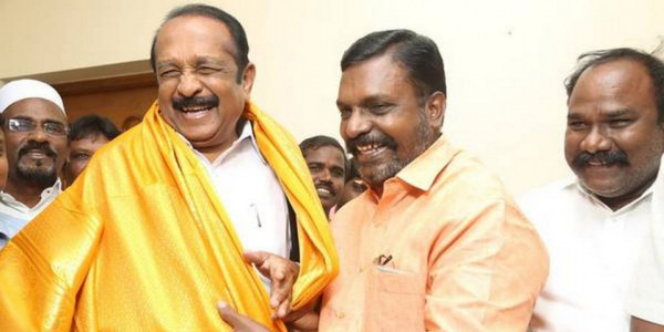 Amid strain in ties, VCK chief meets Vaiko