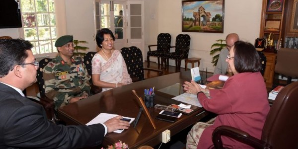 IG Assam Rifles meets Manipur Governor