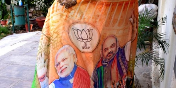 modi-sarees-new-attraction-at-bjp-office-in-jaipur