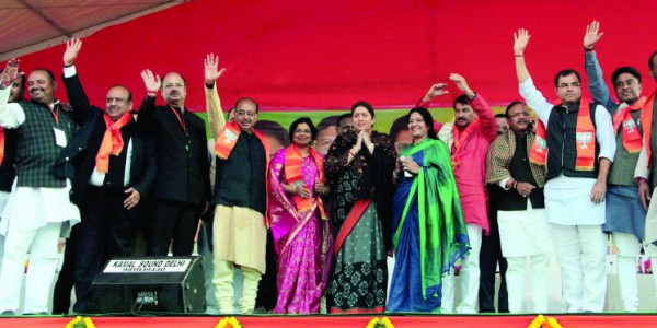 Delhi govt failed to protect women, says Tiwari at BJP 'Hunkar rally'