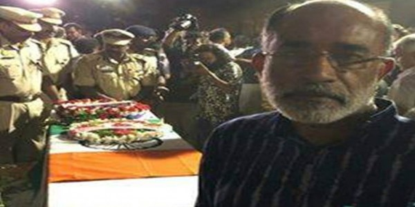False news, says Kerala minister after being slammed for 'selfie' with coffin of CRPF jawan